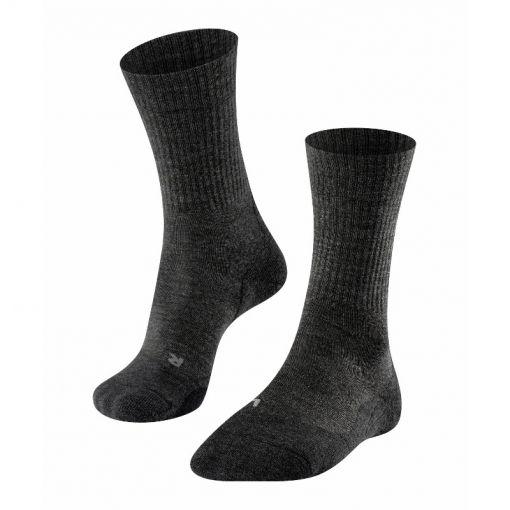 Falke dames sokken TK 2 Wool  - Antraciet