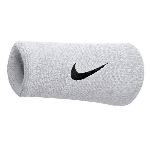 Nike Swoosh Doublewide Wristband - Wit