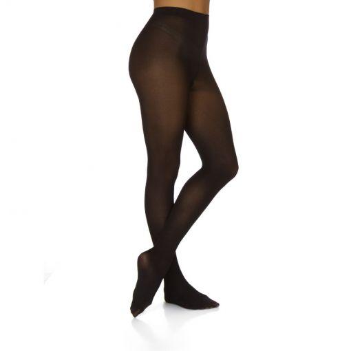 Papillon maillot met voet - Zwart