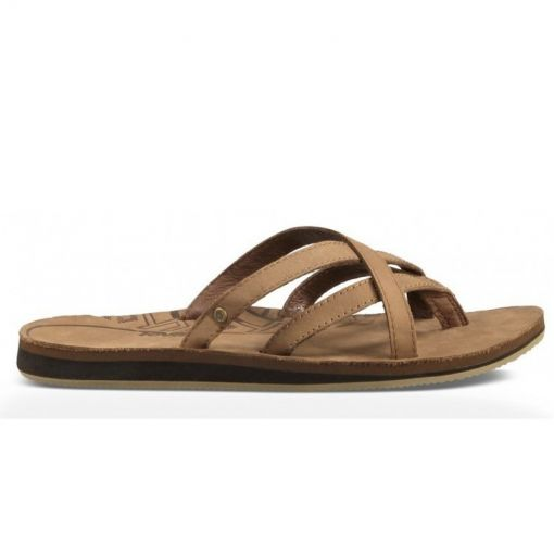 Teva dames beach slipper Olowaha Leather - Bruin