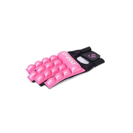 Brabo BP1050 hockey handschoen zonder duim F4 - Roze