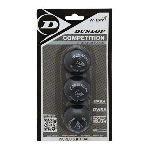 Dunlop Competition 3BBL squashballen - Zwart