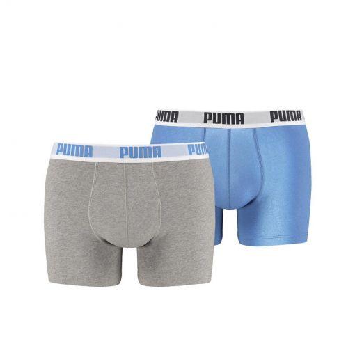 Puma Basic Boxer 2P niet gebruiken - Blauw/Grijs