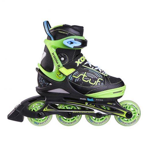 Stuf jongens inline skate Xoom 2 - Zwart