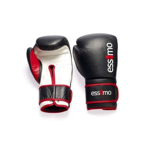 Essimo leren kickboks handschoenen - Zwart