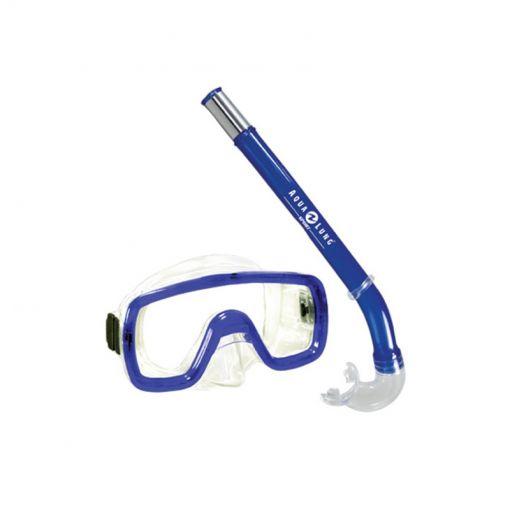 Aqua duikbril en snorkel - Blauw
