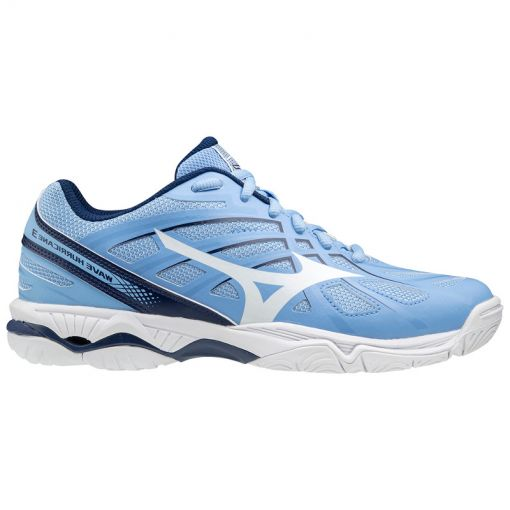 Mizuno Wave Hurricane dames indoorschoen - 29 Dellablue/White