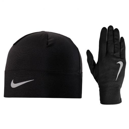 Nike Run Dry muts en handschoenen set - Zwart