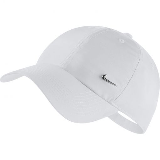 Nike Sportswear Cap Metal Swoosh - Wit/Grijs
