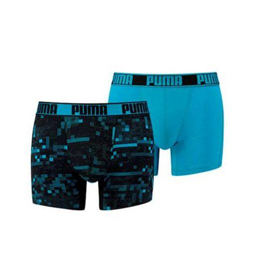 Puma heren ondergoed Active Print Boxer - Blauw