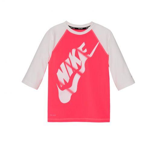 Nike junior Half Sleeve Hydroguard - Roze