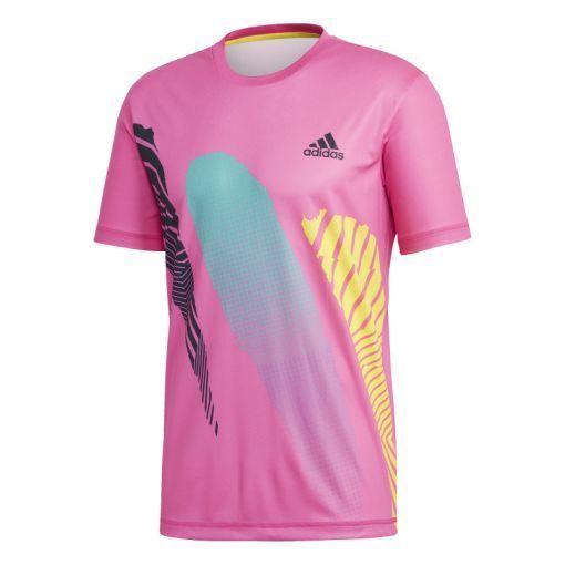 Adidas heren tennis t-shirt Rule #9 - Roze