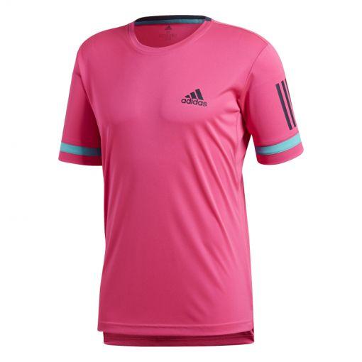 Adidas heren tennis t-shirt Club 3 Stripes - Roze