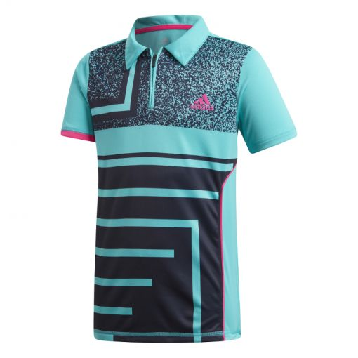Adidas jongens tennis polo Rule #9 - Wit