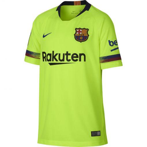 Nike senior voetbal t-shirt FC Barcelona - 703 VOLT/DEEP ROYAL BLUE