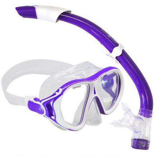 Aqua masker+ snorkel Ivy+ Seabreeze - Wit