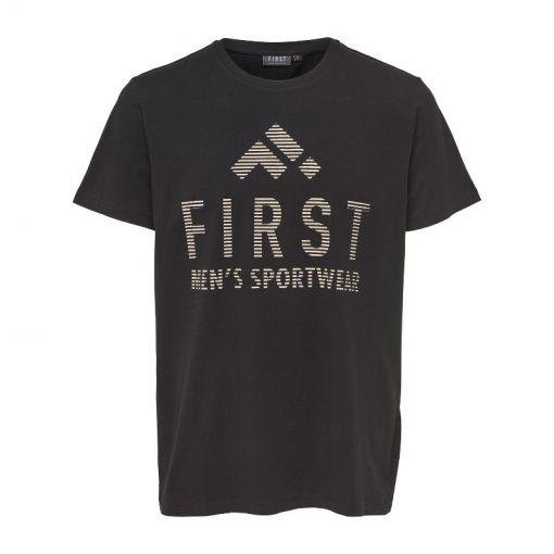 First heren fitness t-shirt Caleb - Zwart