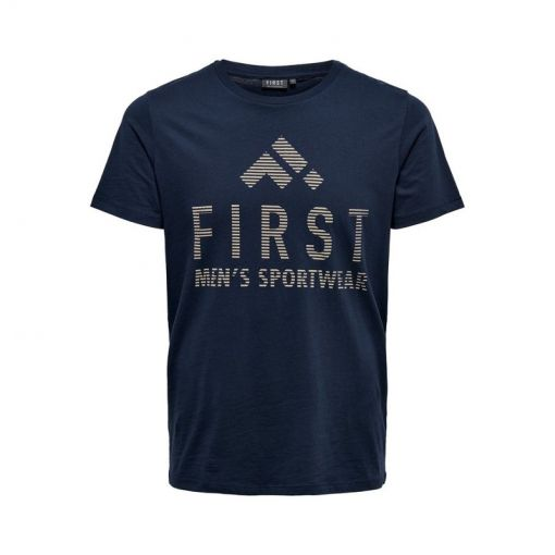 First heren fitness t-shirt Caleb - Blauw