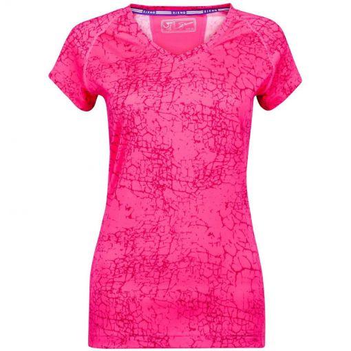 Sjeng Sport dames tennis t-shirt Plus Estelle - roze