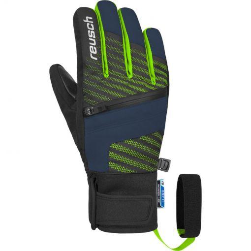 Reusch junior ski handschoen Theo - blauw