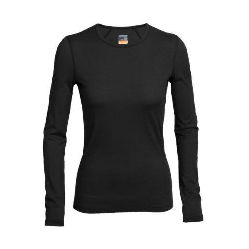 Icebreaker dames thermo shirt lange mouw 200 Oa - Zwart