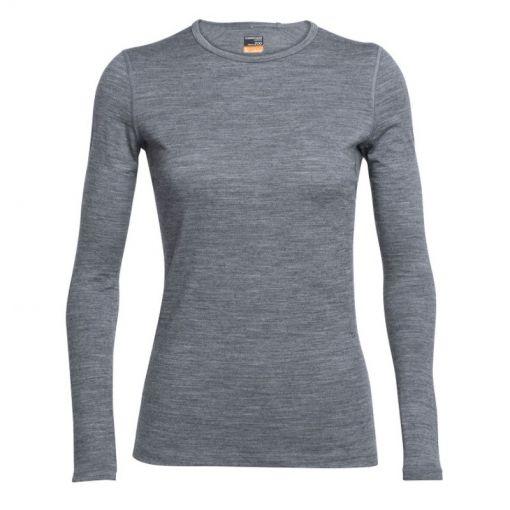 Icebreaker dames thermo shirt lange mouw 200 Oa - grijs
