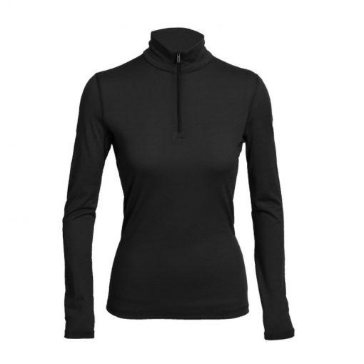 Icebreaker dames thermo shirt lange mouw 260 Tec - Zwart