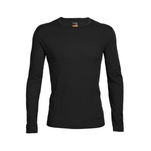Icebreaker heren thermo shirt lange mouw 200 Oa - Zwart