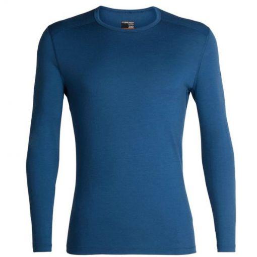 Icebreaker heren thermo shirt lange mouw 200 Oa - blauw