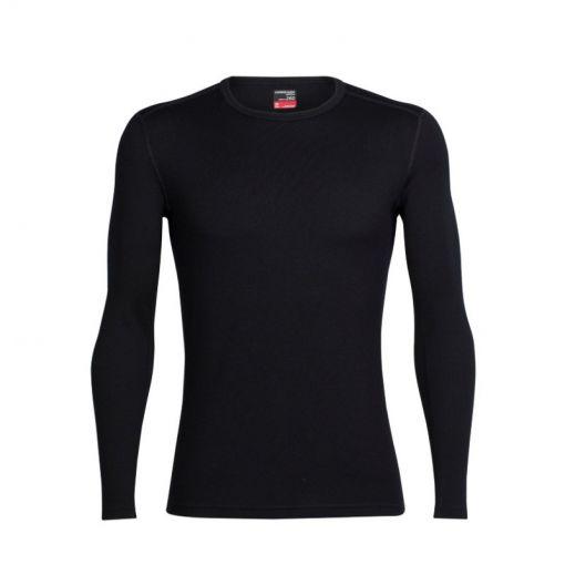Icebreaker heren shirt lange mouw 260 Tec - Zwart