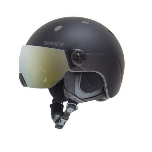 Sinner senior ski helm Titan Visor - Zwart