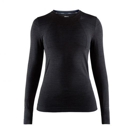 Craft dames thermo shirt lange mouw Fuseknit - Zwart