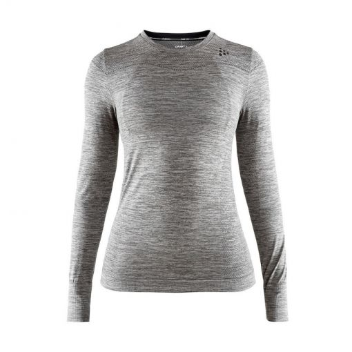 Craft dames thermo shirt lange mouw Fuseknit - grijs