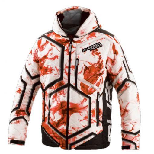 Energiapura heren ski jas With Hood Color - Y762 Smoke/Orange/Green/Wh