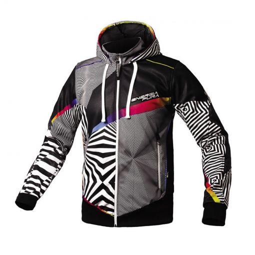 Energiapura heren sweater Hood Zip Optical - Y771 Black/White