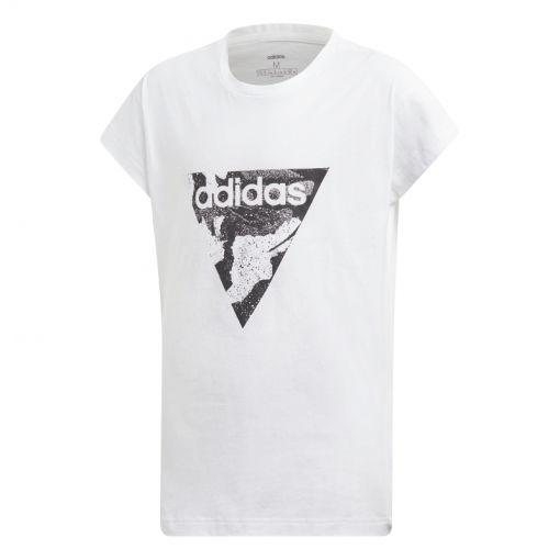 Adidas meisjes fitness t-shirt Aop Tee - Wit