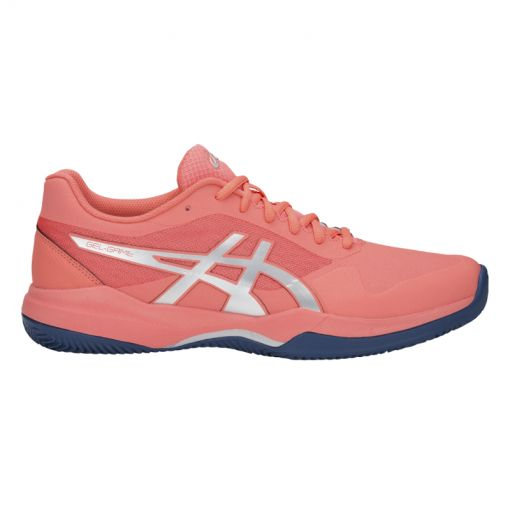 Asics dames tennis schoen Game 7 - 704 PAPAYA/SILVER
