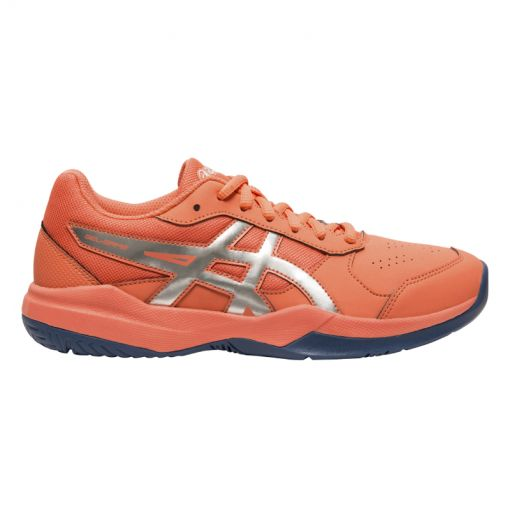 Asics junior tennis schoen Game 7 - 704 PAPAYA/SILVER