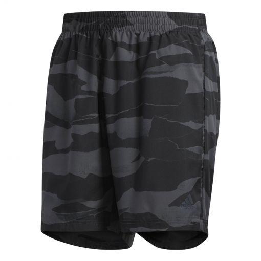 Adidas heren running korte broek Run It Camo - GRESIX/BLACK
