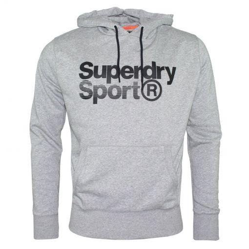Superdry heren fitness t-shirt Core Sport Overhead - 41Q Light Grey