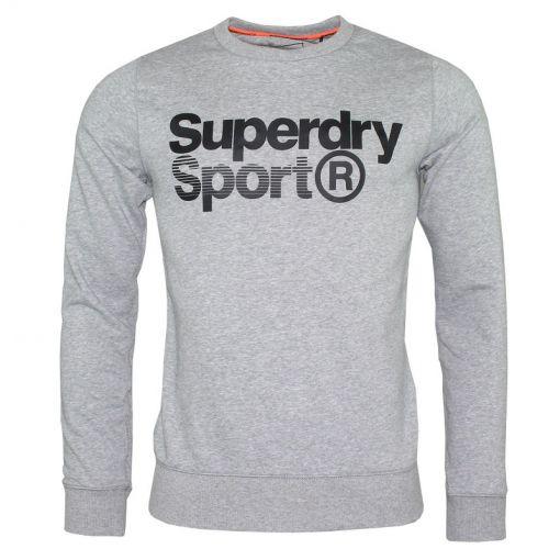 Superdry heren fitness sweater Core Sport Crew - 41Q Light Grey