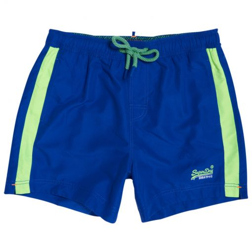 Superdry heren zwembroek Beach Volley Swim Short - OM3 Racer Kobalt