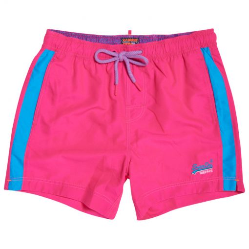 Superdry heren zwembroek Beach Volley Swim Short - P2V Sunblast Pink