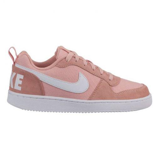 Nike junior schoen Court Borough Low - 600 CORAL STARDUST/WHITE