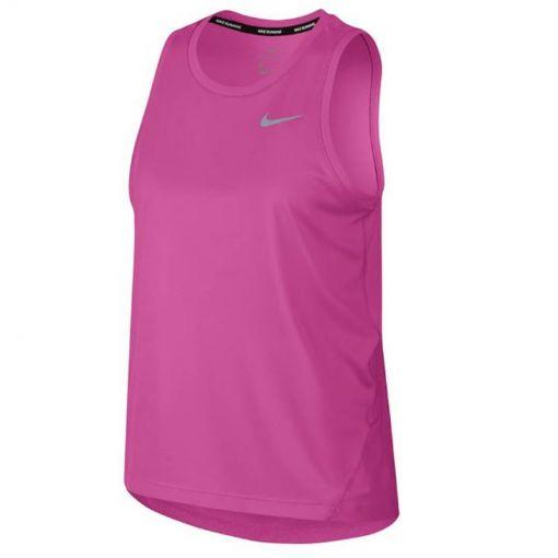 Nike dames running tanktop Miler - Fuchsia
