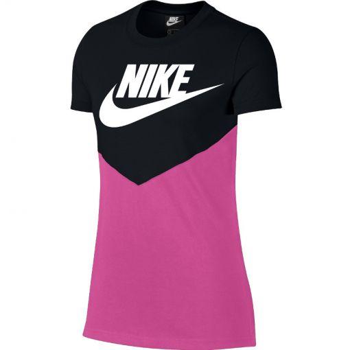 Nike dames t-shirt Heritage Vintage Top SS - Zwart