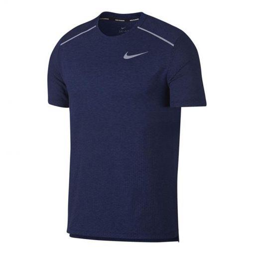 Nike heren t-shirt Breathe Rise 365 - 492 BLUE VOID/HTR/REFLECTIVE S