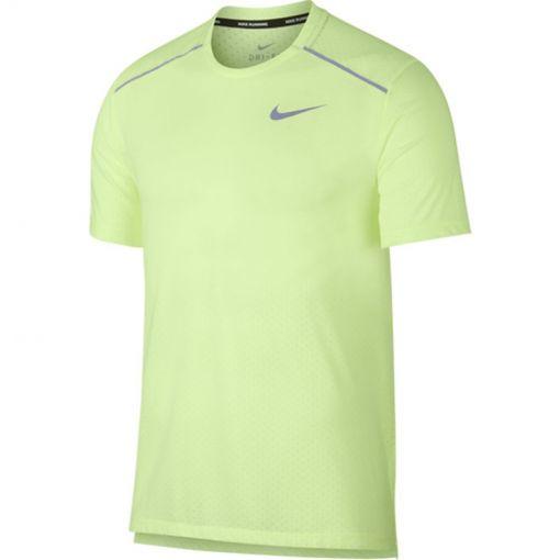 Nike heren t-shirt Breathe Rise 365 - 701 BARELY VOLT/REFLECTIVE SIL