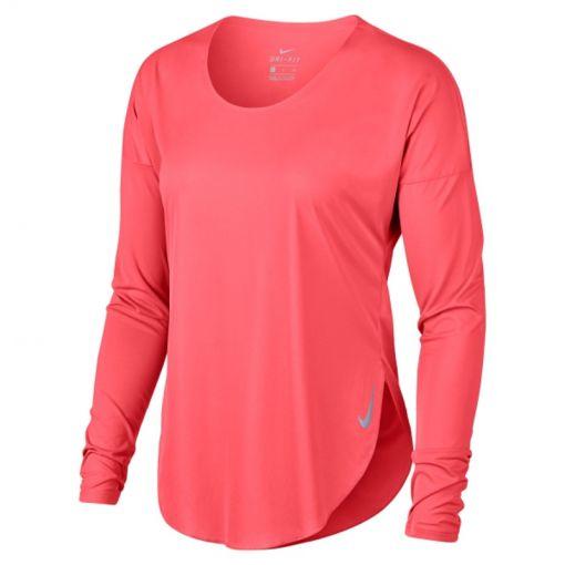 Nike dames shirt City Sleek - Geel