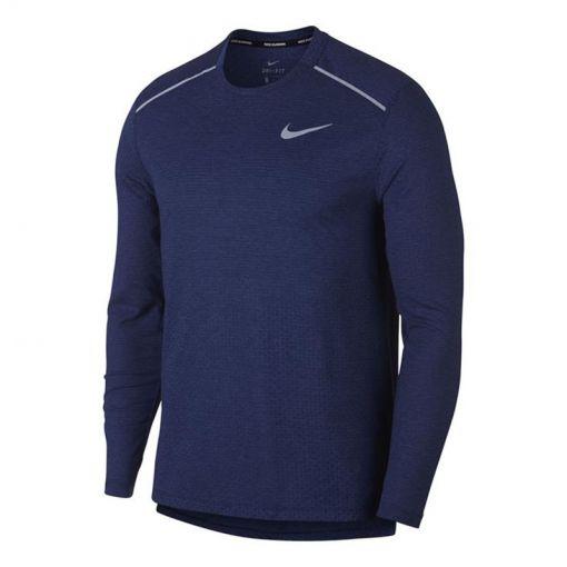 Nike heren running t-shirt Breathe Rise 365 - 492 BLUE VOID/HTR/REFLECTIVE S